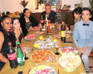 Christmas Dinner in Limoux, France